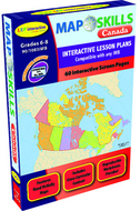 Map skills canada interactive white  board software