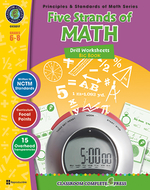 Drill sheets five strands of math  big book gr 6-8 principles math