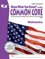 Gr 8 student workbook mathematics  show what you know on the common