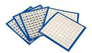 Laminated hundreds cards 10/pk  11 x 11