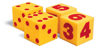Giant soft cubes numeral 2/pk 5  square
