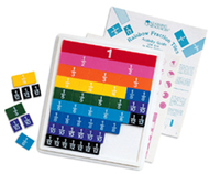 Rainbow fraction tiles w/ 51 pcs  w/ 9 x 10 plastic tray