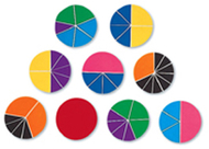 Delx rainbow fraction circles 51/pk