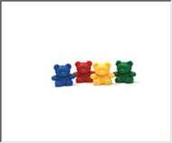 Counters baby bear 4 colors 100-pk