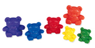 Three bear family rainbow 96/pk  set 3 sizes 6 colors