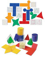 Folding geometric shapes 32/set  combo set