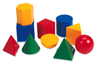 Large geometric shapes 10/pk 3d