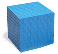 Base ten cube plastic bl 10x10x10cm