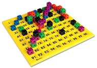 Hundreds number board 12 x 12  plastic double-sided