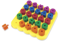 Geo shapes peg board