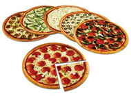 Magnetic pizza fraction set