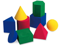 Hands-on soft large geometric 9/pk  shapes common 3 dimension