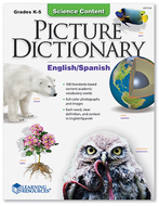 Science content picture dictionary  english spanish