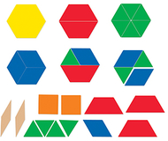 Giant magnetic pattern blocks set  of 47