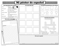 Basic spanish activity posters