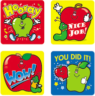 Stickers apples 120/pk acid &  lignin free