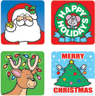 Stickers christmas 120/pk acid &  lignin free