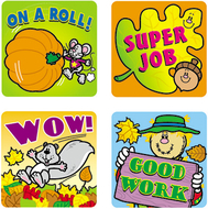 Stickers fall fun 120/pk acid &  lignin free