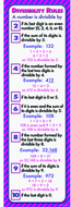 Divisibility rules colossal concept  poster