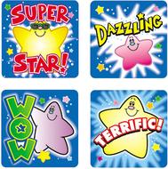 Stickers stars 120/pk acid & lignin  free