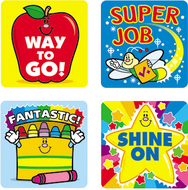 Stickers winning words 120/pk acid  lignin free