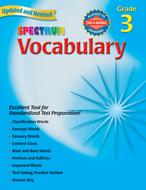 Spectrum vocabulary gr 3