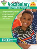Everyday vocabulary gr 1  intervention activities