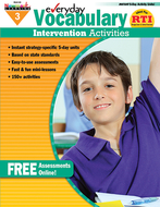Everyday vocabulary gr 3  intervention activities