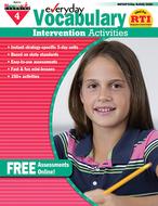 Everyday vocabulary gr 4  intervention activities