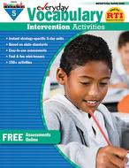 Everyday vocabulary gr 5  intervention activities