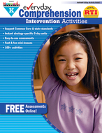 Everyday comprehension gr k  intervention activities