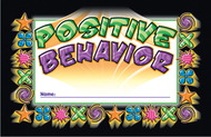Incentive punch cards positive  behavior 36/pk