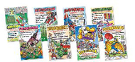 Math superheroes bulletin board set