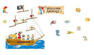 Welcome aboard bulletin board set