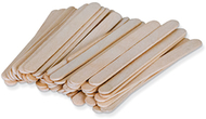 Natural wood craft sticks 100pcs  small 4 1/2l x 3/8w