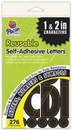 Self stick letters black