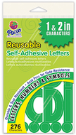 Self stick letters green