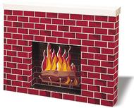 Corrugated fireplace 38x7x30
