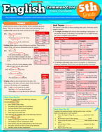 English common core 5th grade  laminated study guide