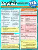 English common core 7th grade  laminated study guide