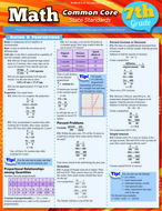 Math common core 7th grade  laminated study guide