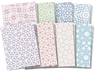 Roylco design craft paper  tessellations designs 8.5x11 24sht