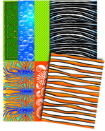 Royco sealife design paper 40  sheets 3 1/2 x 11 8 designs