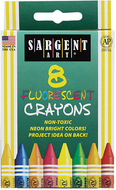 Sargent art crayons fluorescent 8  count tuck box