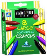 8ct washable large crayon  peggable box