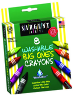 8ct washable crayon big ones  peggable box