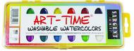 16 art time semi moist washable  colors w/ brush