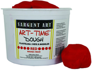 3lb art time dough - red