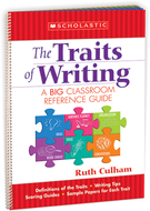 Flip chart the traits of writing a  big classroom reference guide