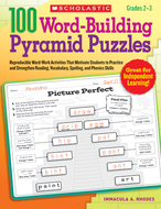 100 word building pyramid puzzles
